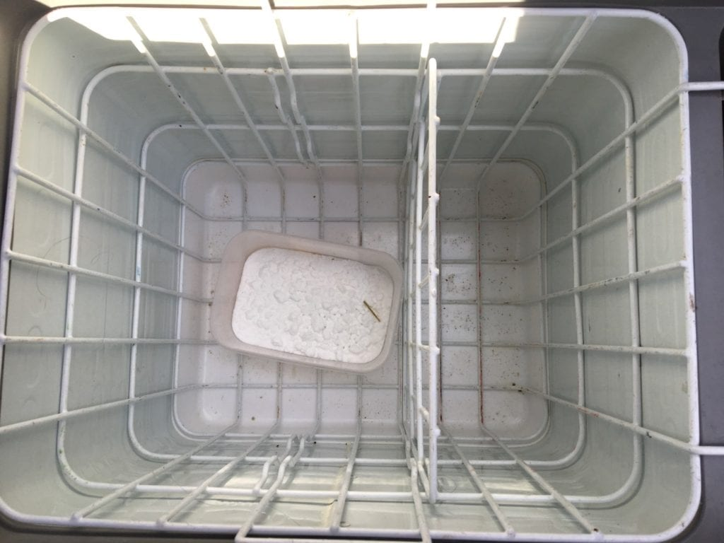 Bicarbonate of soda is an excellent way to keep your car fridge mould-free when in storage.