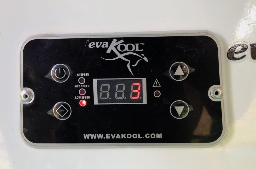 Digital readout is simple to use. EvaKool Fridge/Freezer.