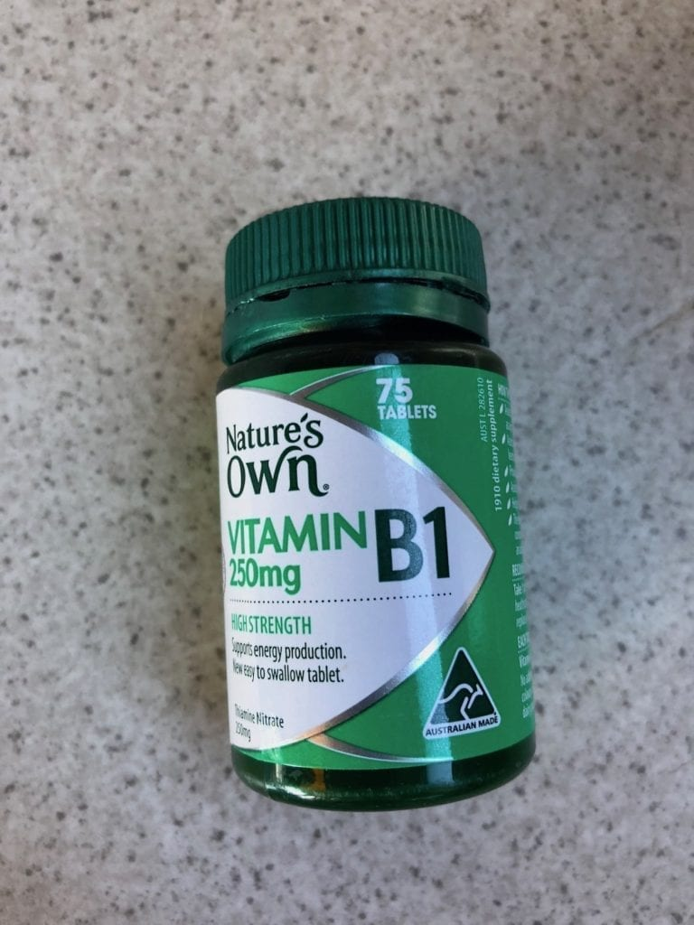 Vitamin B1. Supposed to be a Mosquito Repellant.