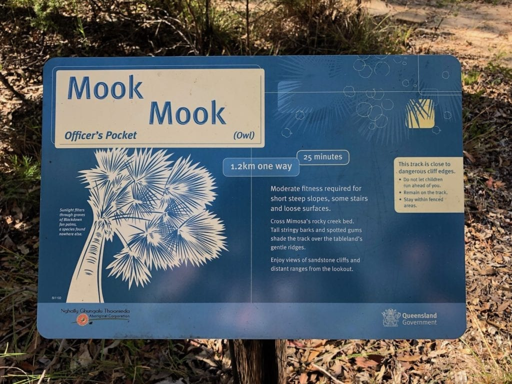 Mook Mook walk. Walks In Blackdown Tableland NP.