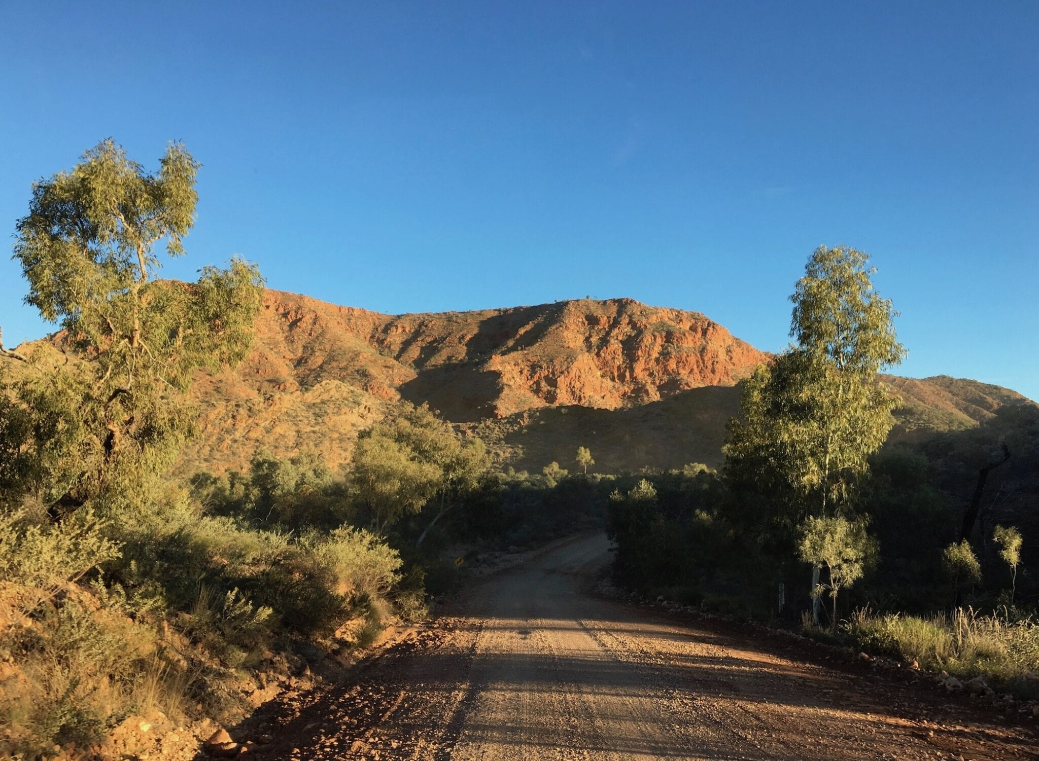 The East MacDonnell Ranges on Binns Track.