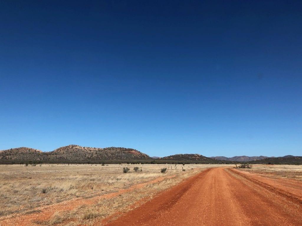 Harts Range in the distance, Binns Track.