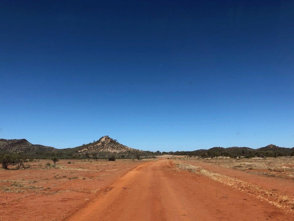 Strange conical hills in Harts Range, Binns Track.