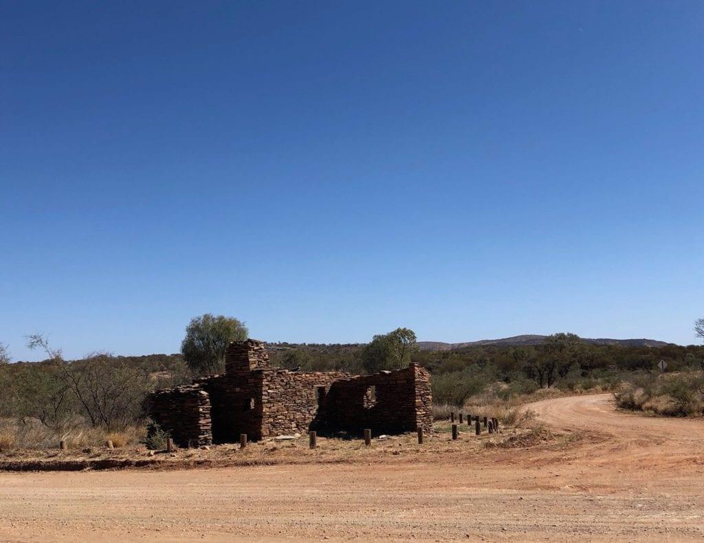 Ruins of the bakehouse at Arltunga, Binns Track.