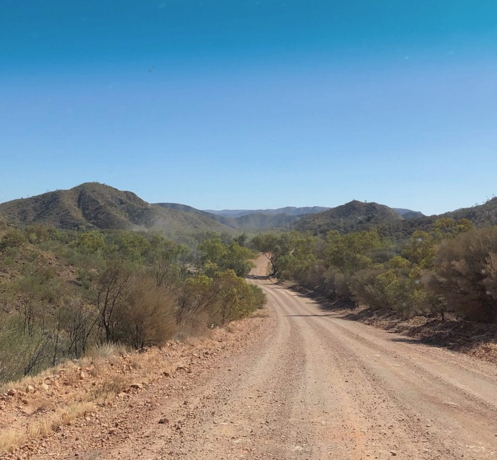 The imposing East MacDonnell Ranges, Binns Track.