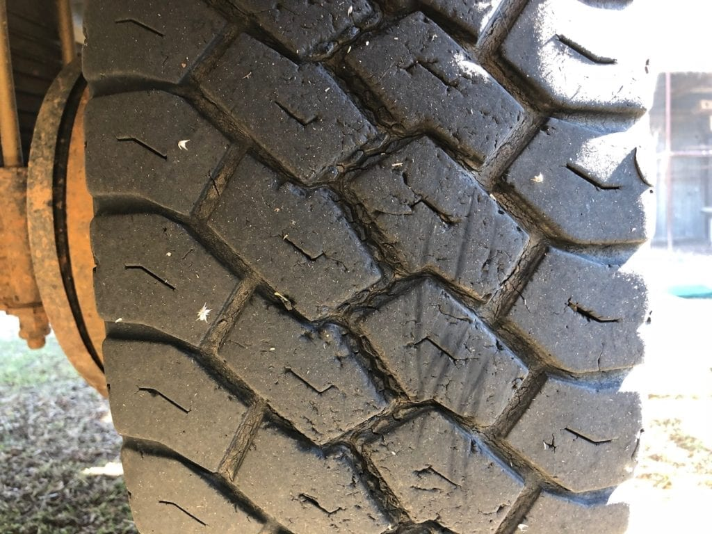 Left rear tyre wear. Toyo Tyres Review.