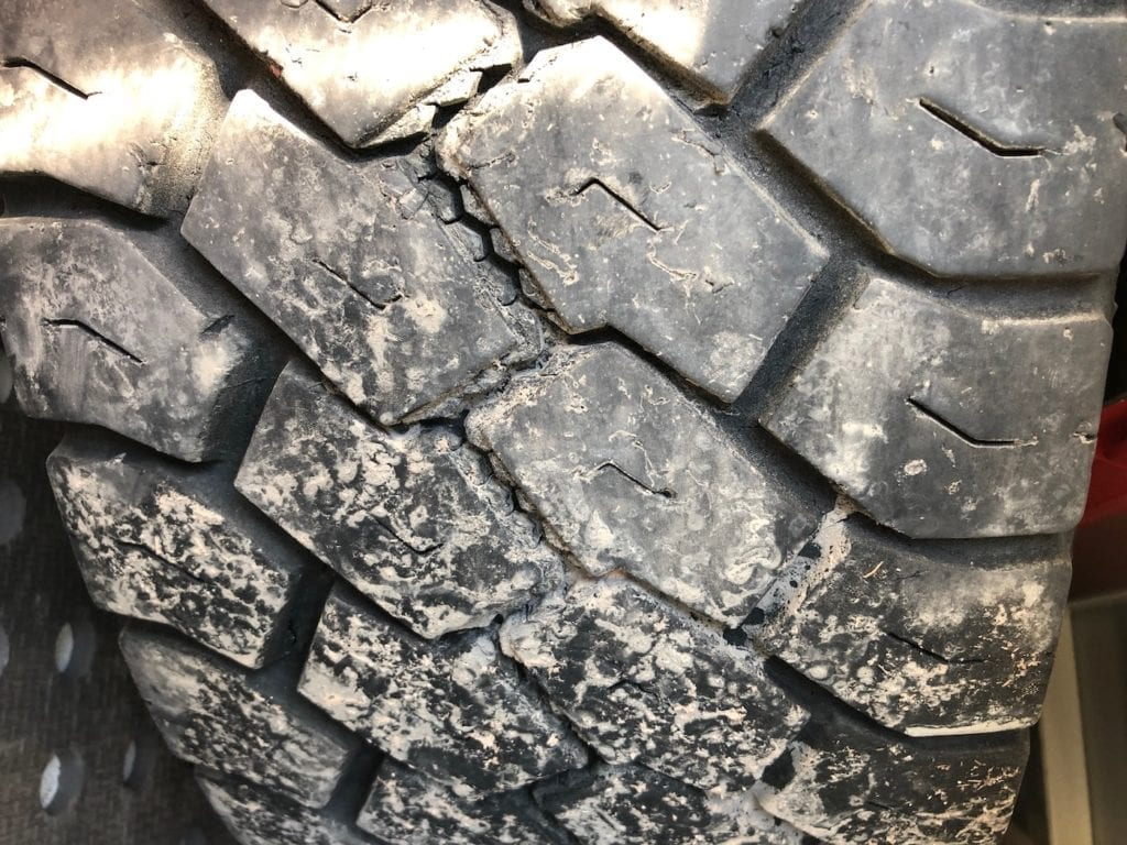 Right spare tyre wear. Toyo Tyres Review.