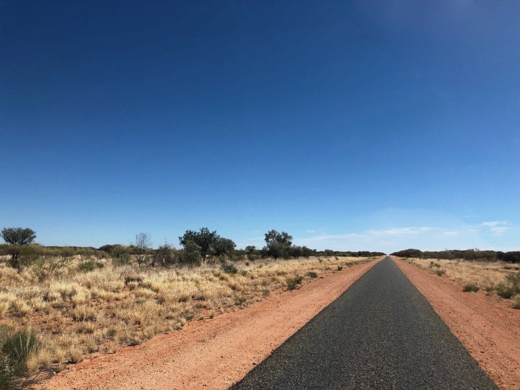 The Tanami Road is tar for the first 250km from Alice Springs.