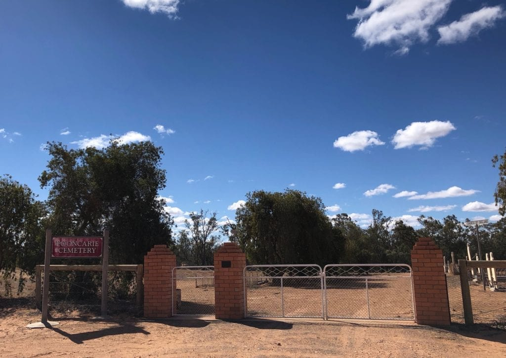 The entrance to the cemetery, Pooncarie NSW.