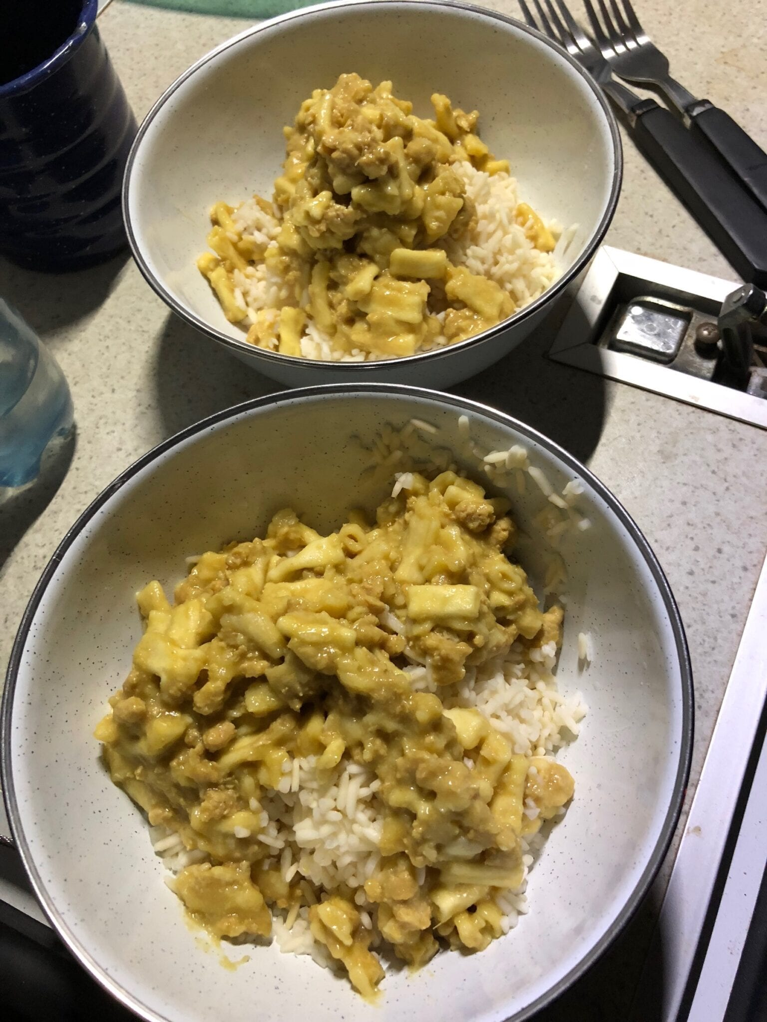 Rice and Mango Curry Chicken from Campers Pantry. Easy camping food.
