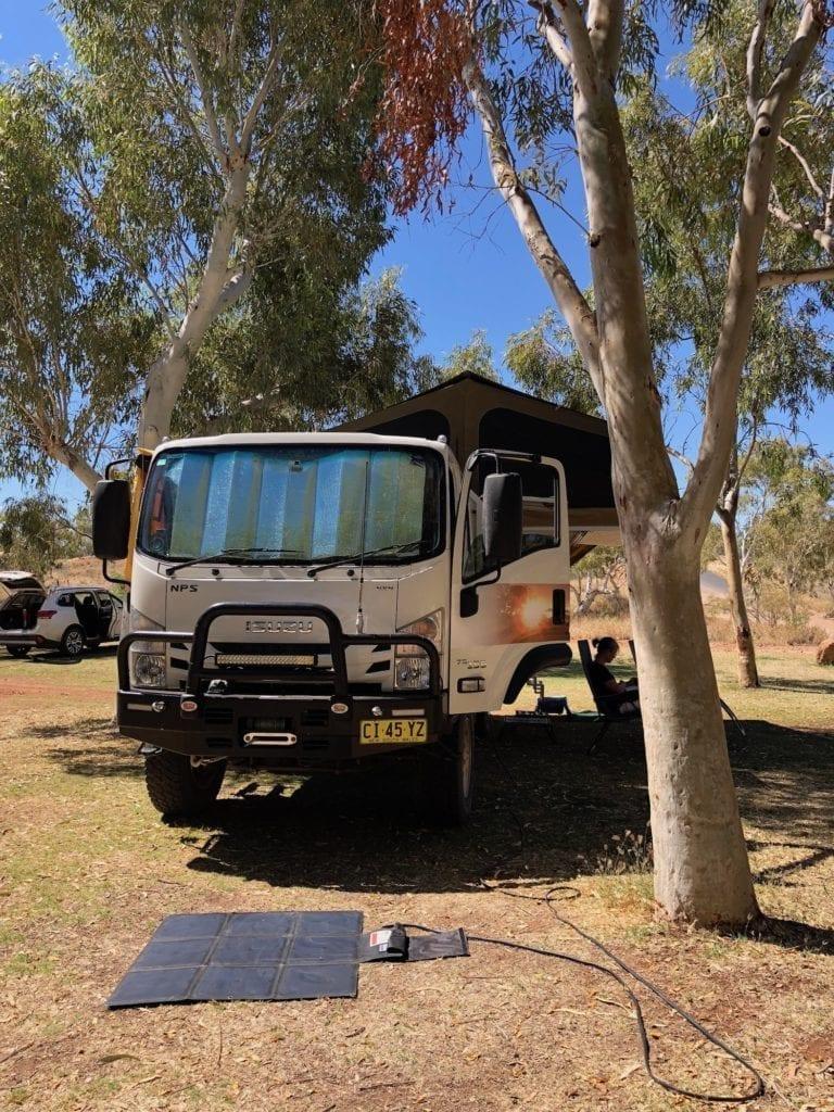 Marble Bar caravan park has green grass and shade. Gary Junction Road Camping.