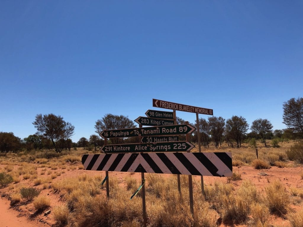 Onto the Gary Junction Road between the Tanami Road and Papunya.
