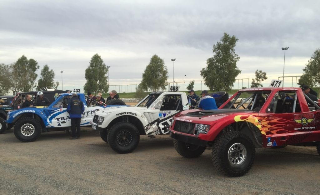 Micklefab trophy trucks ready for the Finke Desert Race.