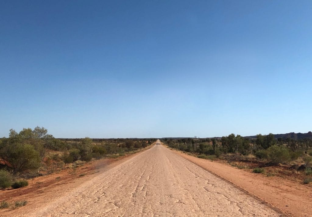 The Finke track improves as you get closer to Alice Springs.