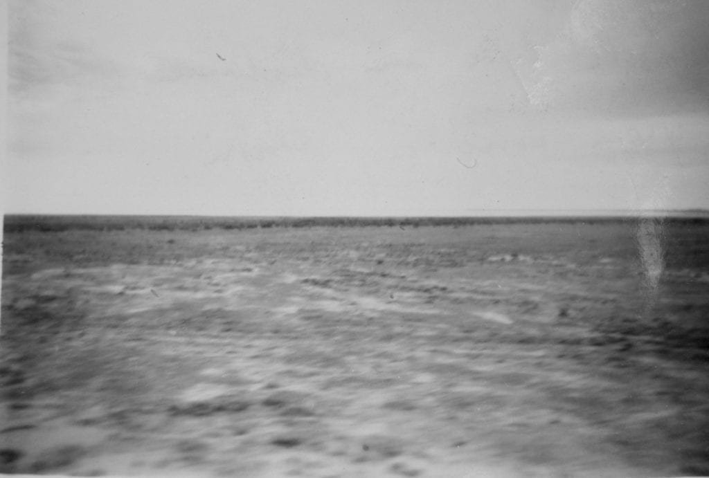 Lake Eyre South. Taken from the Old Ghan, 1950. Salt Lakes and Water.