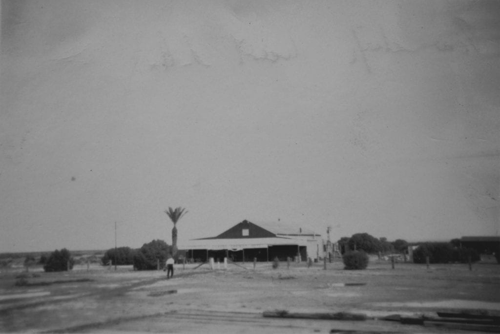Coward Springs hotel and store in 1950. Taken from the train line.