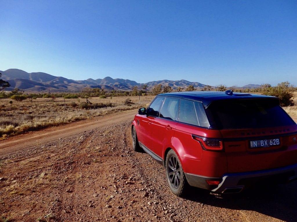 Range Rover Sport at the Flinders Ranges.