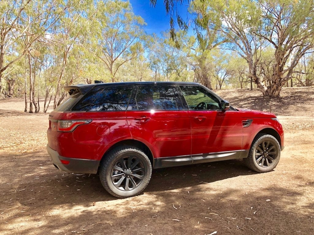 Range Rover Sport has 3 different height modes. Shown here at maximum height.