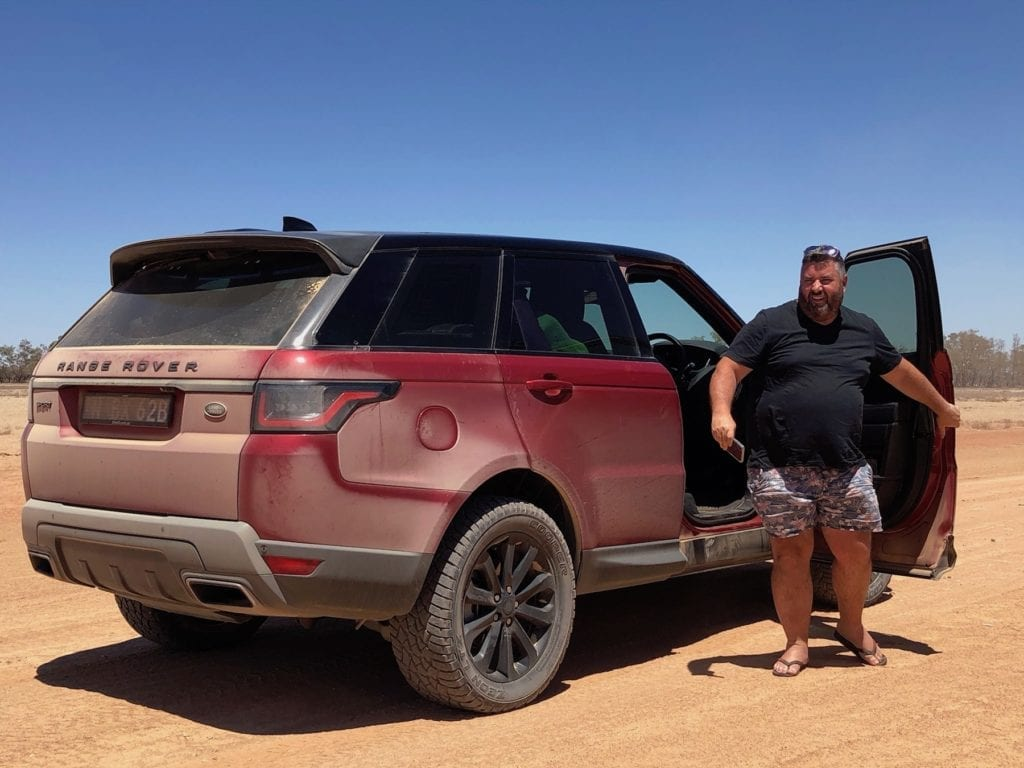 Getting some dust on the Range Rover Sport.