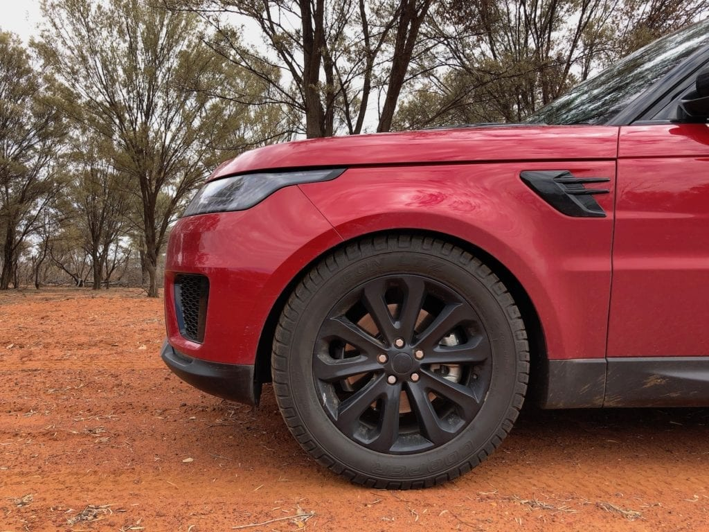 The only off road tyre option available for the Range Rover Sport.