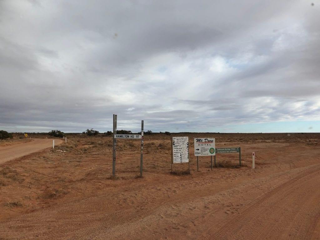 Turn off the Oodnadatta track north of Oodnadatta to reach Pedirka Desert