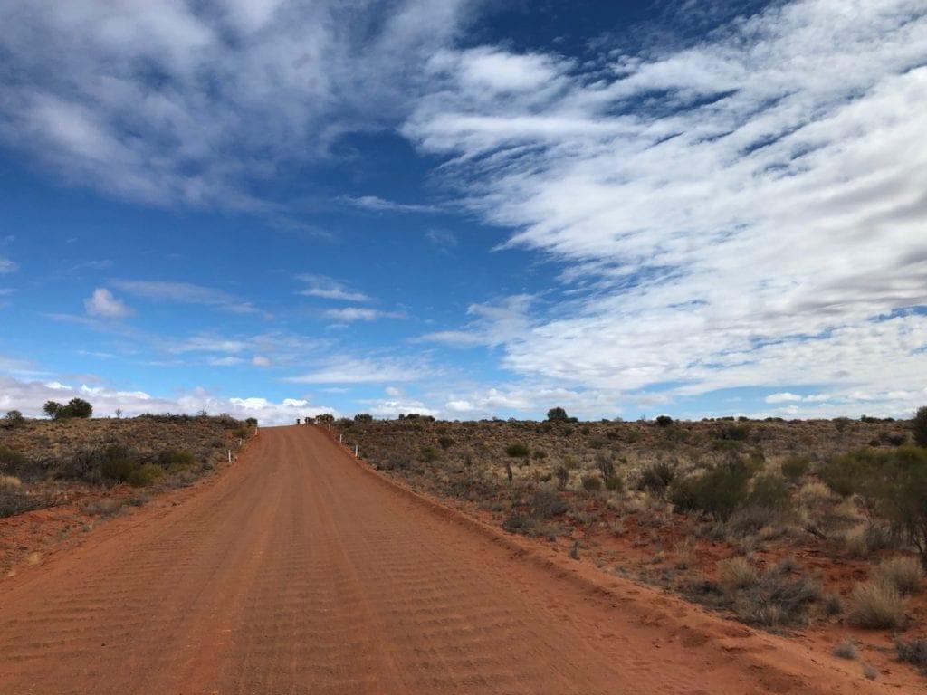 Red sand and mulga scrub in Pedirka Desert.