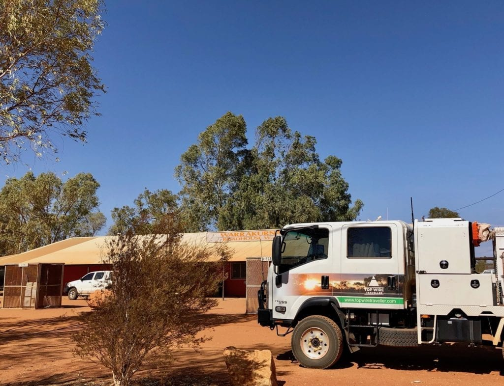 Warakurna roadhouse. Great Central Road, Great Victoria Desert.