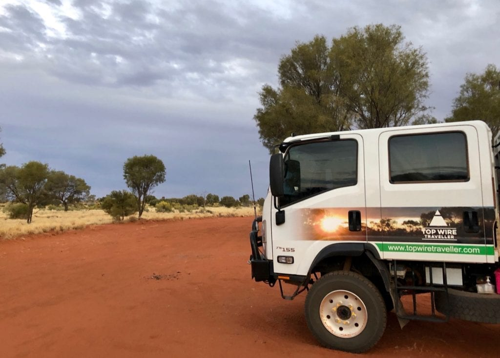 Dark skies at our campsite about 60km west of Kata Tjuta. Great Central Road Camping.