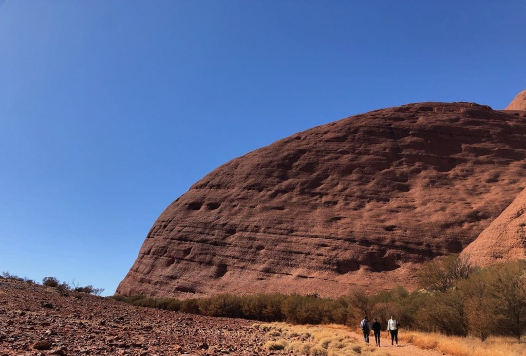 The beginning of the Valley Of The Winds walk, Kata Tjuta.