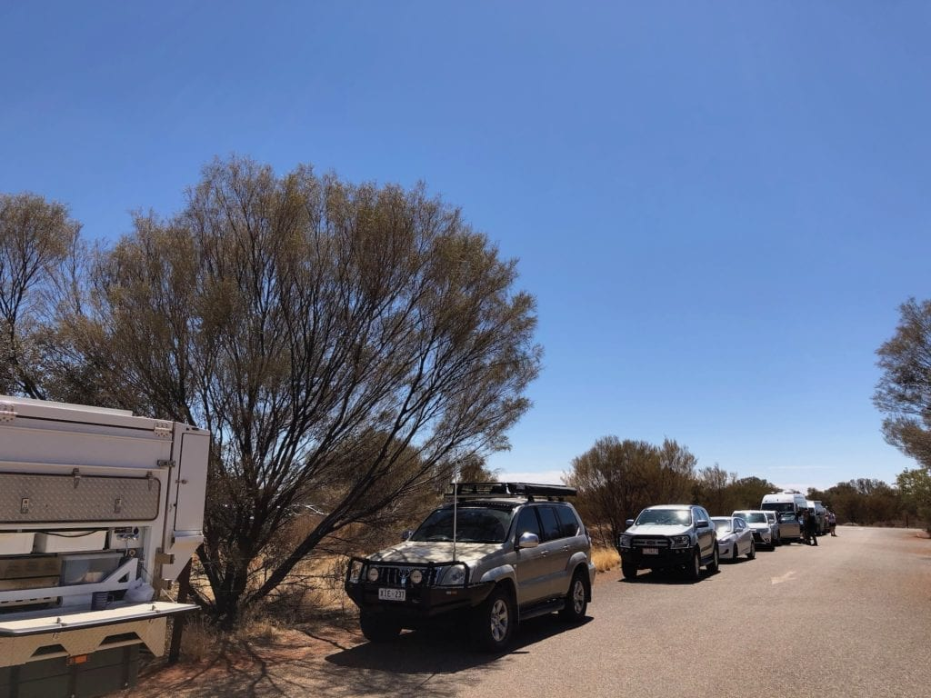 The carpark at Kata Tjuta was overflowing.