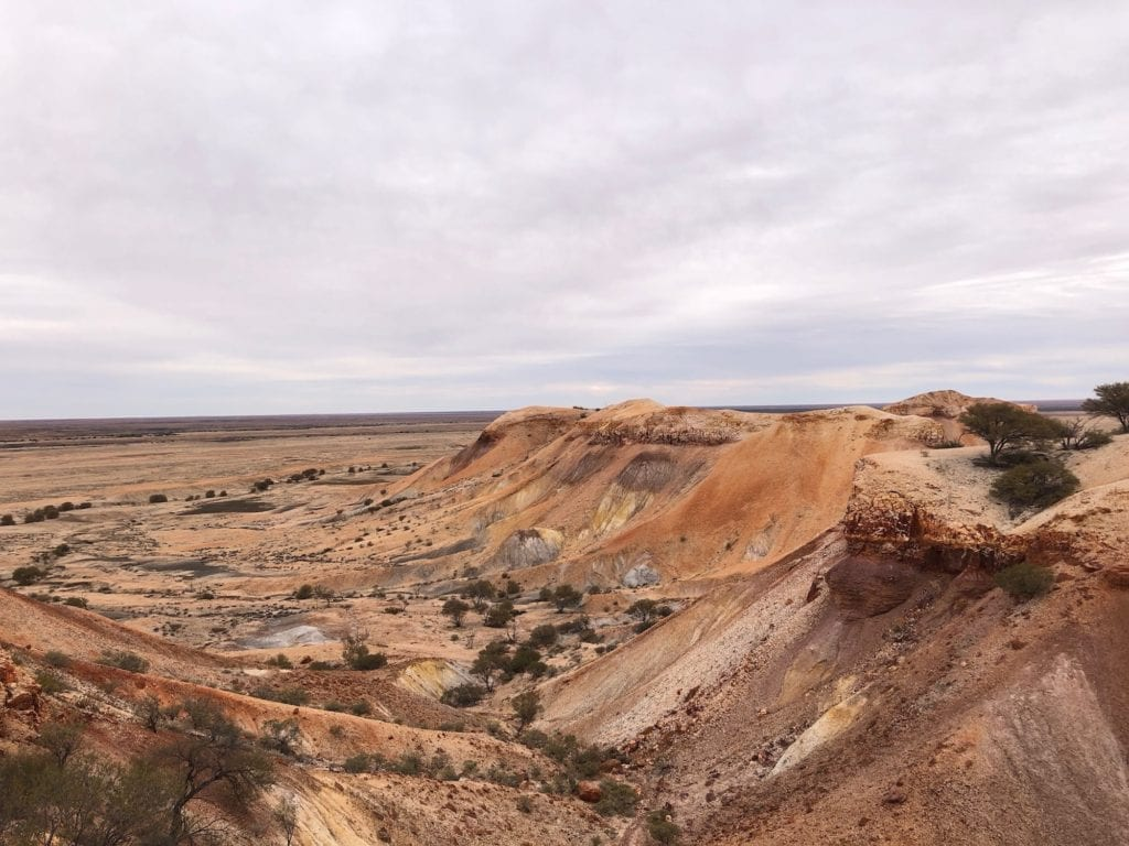 Colurs of the Painted Desert SA from up high.