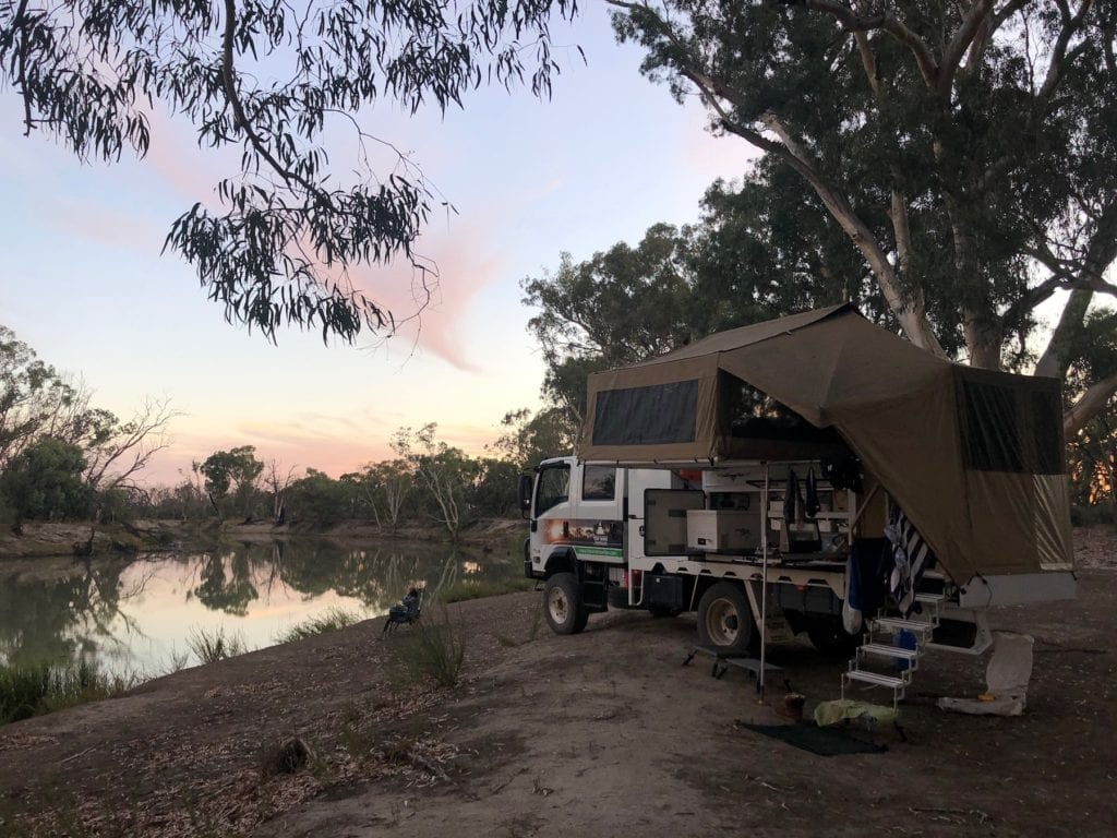 Camping On The Murray River. Bush camping at its finest.