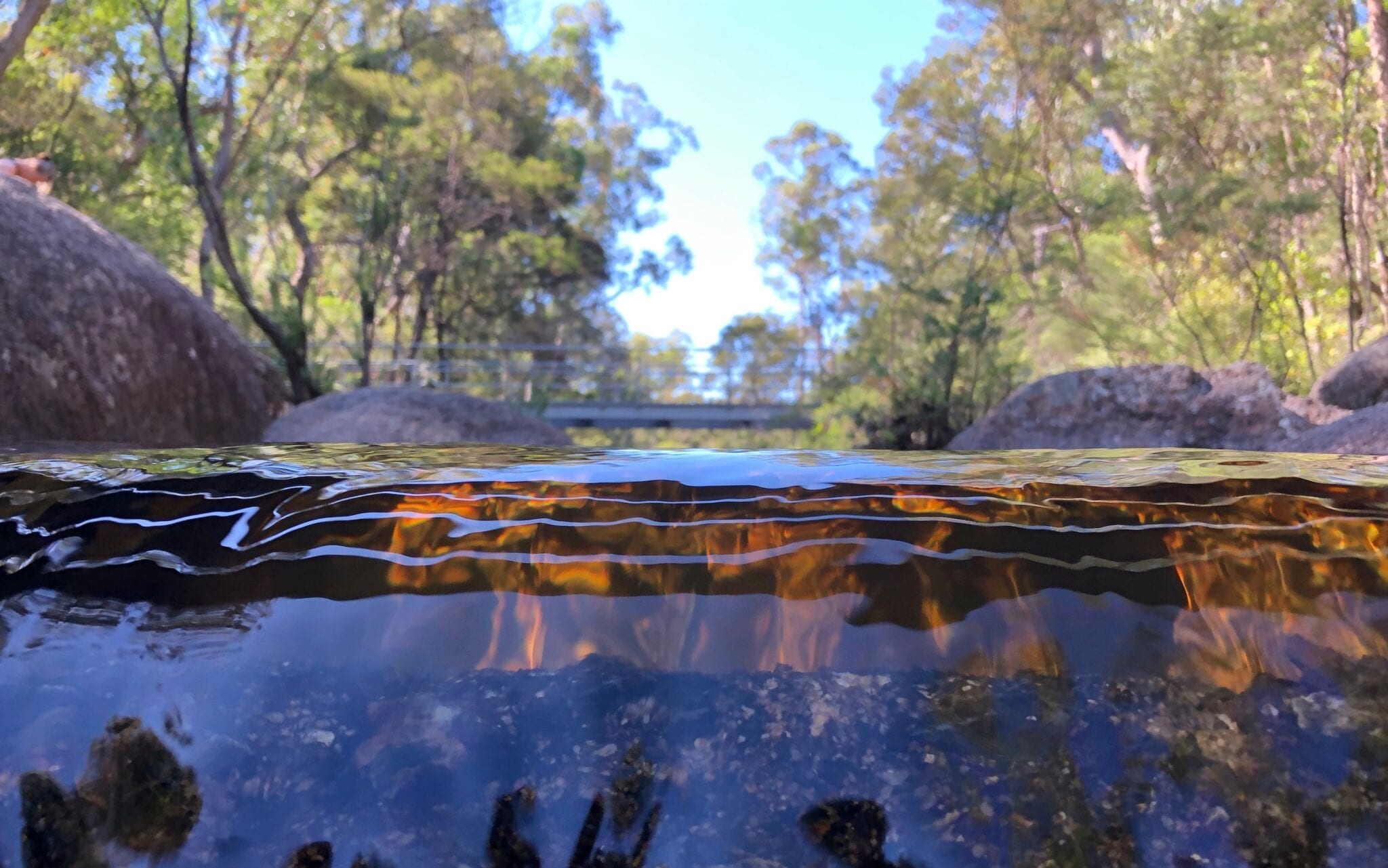 The weir at Mulligans Hut campground, Gibraltar Range National Park.