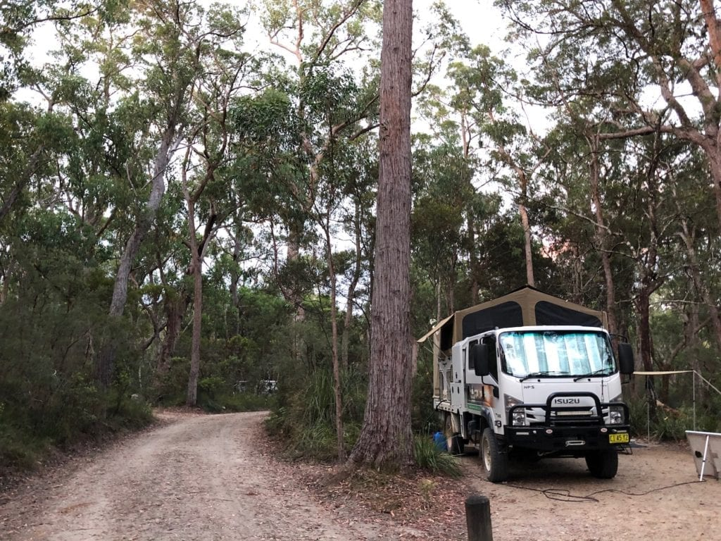 Mulligans Hut campground at Gibraltar Range National Park has plenty of space and large sites.