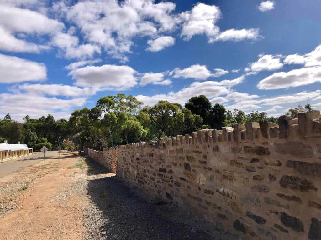 This stone wall is a work of art. Burra South Australia.