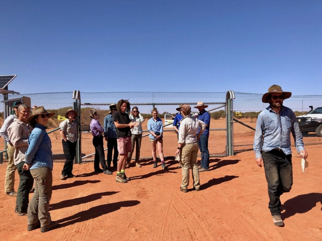 Most of the team in the field for the annual Ecological Survey at Wild Deserts. Australian marsupials.