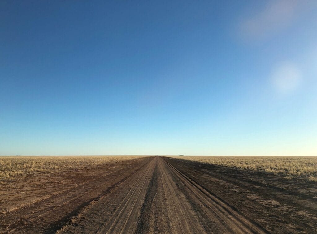 The vast black soil plains on the Urandangie to Camooweal Road, western Queensland.