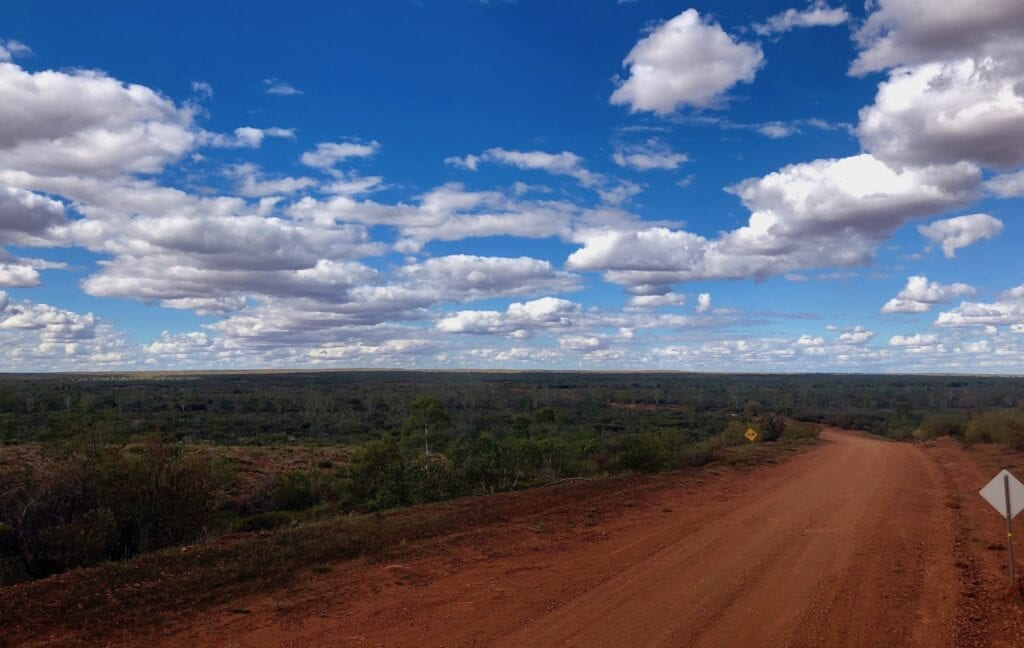 Looking back down towards an offshoot of the Bundey River on the Sandover Highway, NT.