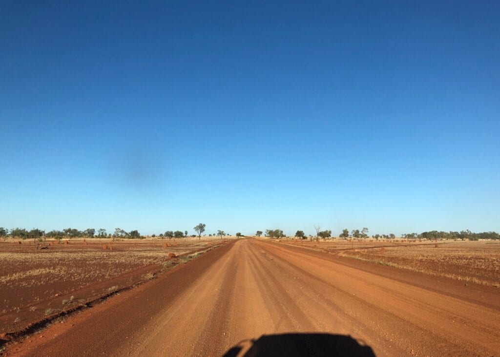 Starting our journey along the Sandover Highway, just after we turned off the Urandangie to Camooweal Road.