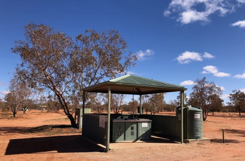 The facilities at Fort Grey Campground are excellent. Lake Pinaroo, Sturt National Park NSW.