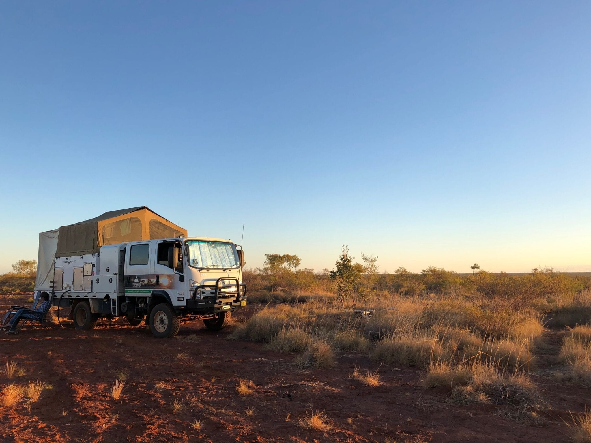 Camped in the Tanami Desert beside Lajamanu Road.