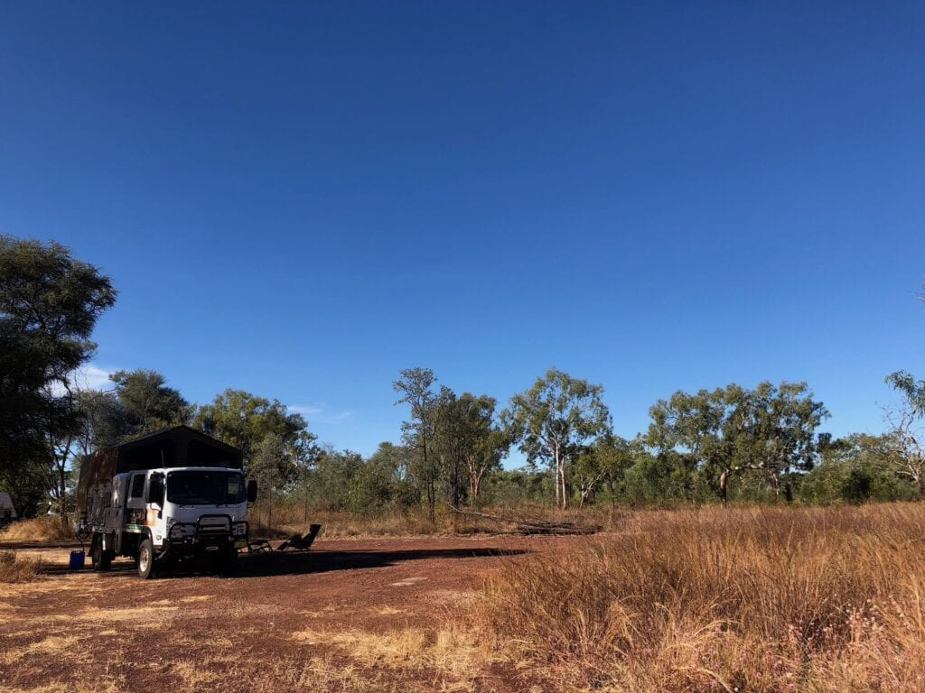 Camped at Bullwaddy Rest Area, Carpentaria Highway NT.