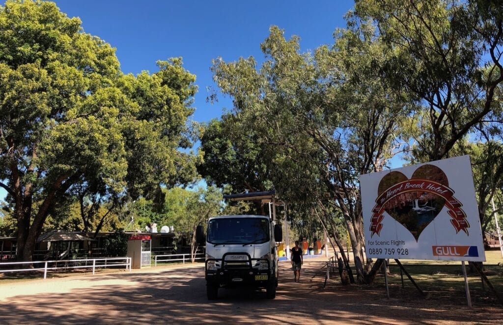 Parked at the Heartbreak Hotel, Cape Crawford NT.