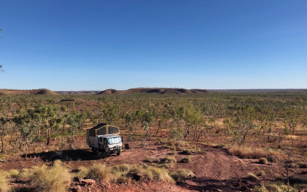 Camped at the base of the jump-up on the Wickham Track, Judbarra / Gregory National Park.