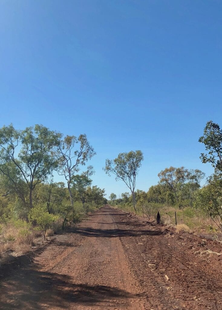 The track leading from the Buntine Highway to the start of the Broadarrow Track in Judbarra / Gregory National Park.